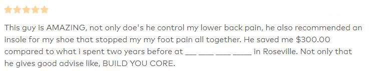 Patient Testimonial at Sierra Spine & Fitness